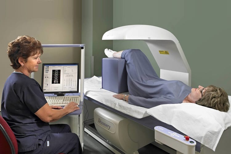 Woman Doing Bone Scan