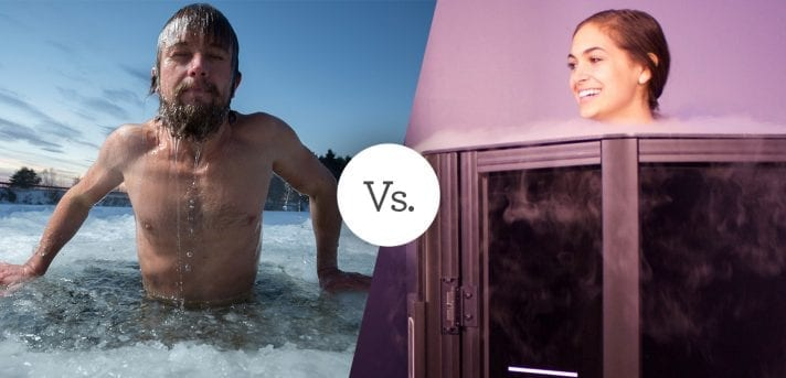Man Ice Bath Vs Woman In Cryochamber