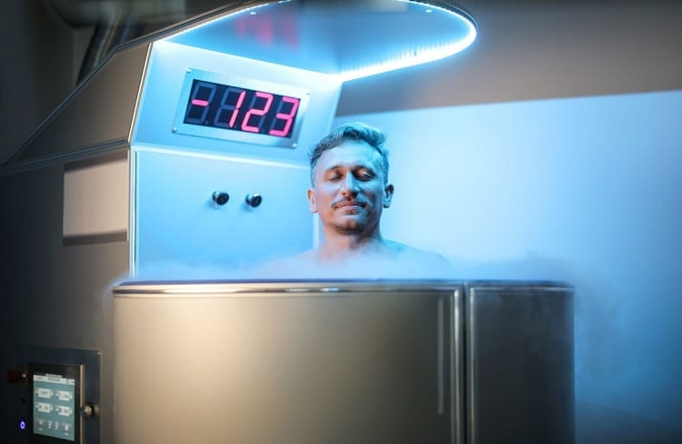 Man Inside Cryotherapy